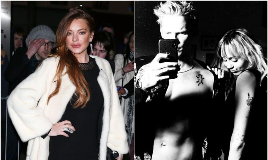 SLANG MED LEPPA: I fjor datet lillesøsteren til Lindsay Lohan den australske artisten Cody Simpson, som nå er sammen med Miley Cyrus. Foto: NTB Scanpix/Screenshot Instagram