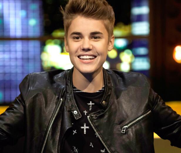 <strong>2012:</strong> Her er tenåringsidolet Justin Bieber avbildet samme år som han ble kåret til den tredje viktigste kjendisen i verden av Forbes. Foto: NTB Scanpix