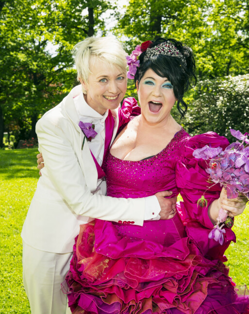 <strong>GODT GIFT:</strong> I 2013 giftet Christine Koht seg med sin utkårede, Pernille Rygg, i Ris Kirke. Foto:Tor Lindseth