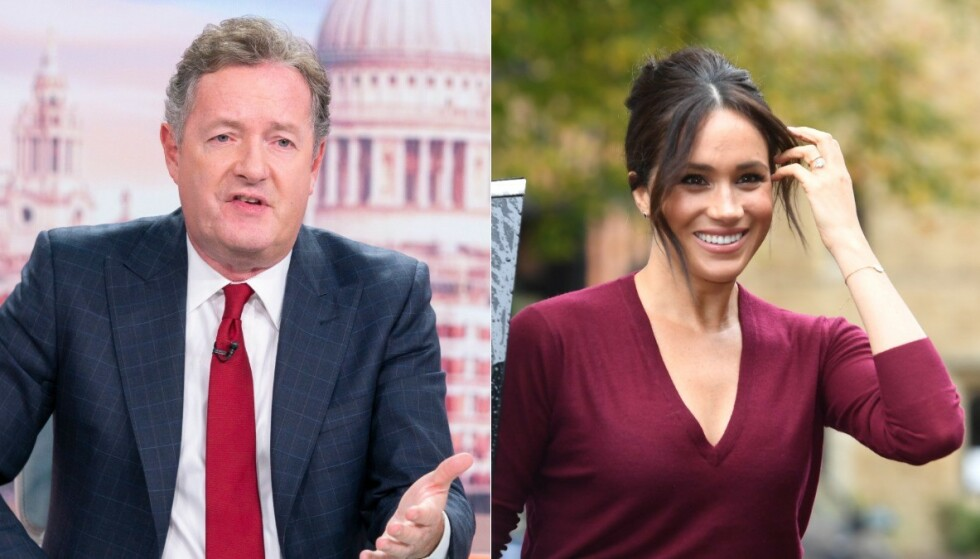 KRITISK: Piers Morgan mener hertuginne Meghan er «sutrete», og ber henne velge om hun ønsker å være en del av kongefamilien eller ikke. Foto: NTB Scanpix