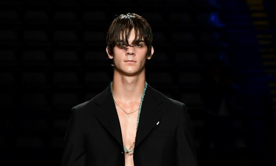 ANDRE VEIER: Leonardo Tano er en av sønnene til pornolegenden Rocco Siffredi. Selv har han valgt en vei innenfor modellyrket, og han kan forsikre om at han ikke har planer om å følge i farens fotspor. Foto: NTB scanpix