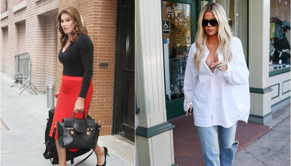 STRID: Den antatte uenigheten mellom Khloé Kardashian og Caitlyn Jenner vil ingen enda ta.Foto: NTB Scanpix