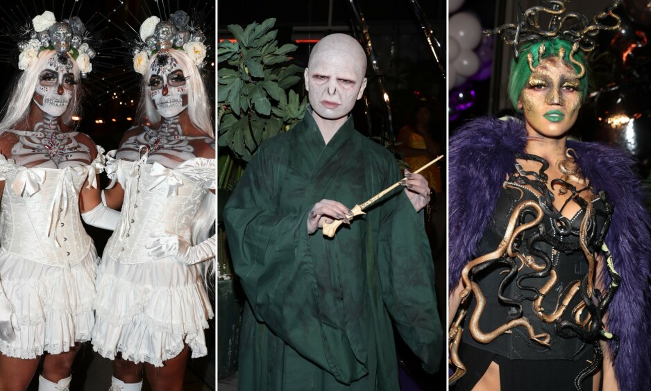 HALLOWEEN: Kjendisene dukket torsdag opp i sine beste halloween-kostymer. Foto: Andreas Fadum / Se og Hør