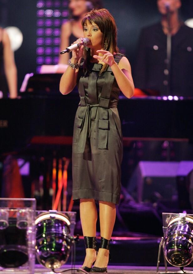 I 2005: På årets Kjendisgalla valgte Jorun Stiansen i gjenbruke kjolen hun var iført da hun vant «Idol» for snart 15 år siden. Foto: Håkon Mosvold Larsen / NTB scanpix