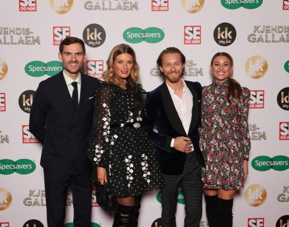 FINT FIRKLØVER: Henrik Thodesen, Lise Karlsnes, Truls Qvale og Marte Bratberg poserte sammen. Foto: Andreas Fadum