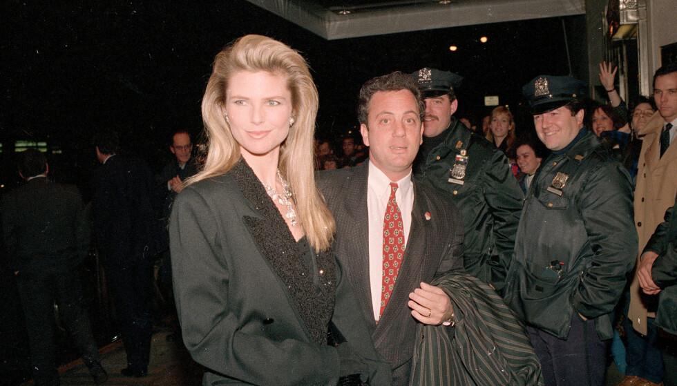 GIFT: Brinkley var gift med artist Billy Joel i ni år. Her er paret avbildet i 1988. Foto: NTB Scanpix