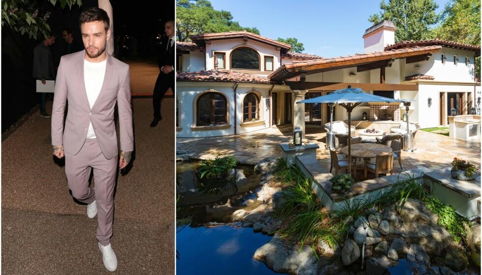 TIL SALGS: Liam Paynes Los Angeles-hjem ligger ute til salgs. Dette er hjemmet han delte med ekskjæresten Cheryl Cole. Foto: NTB Scanpix