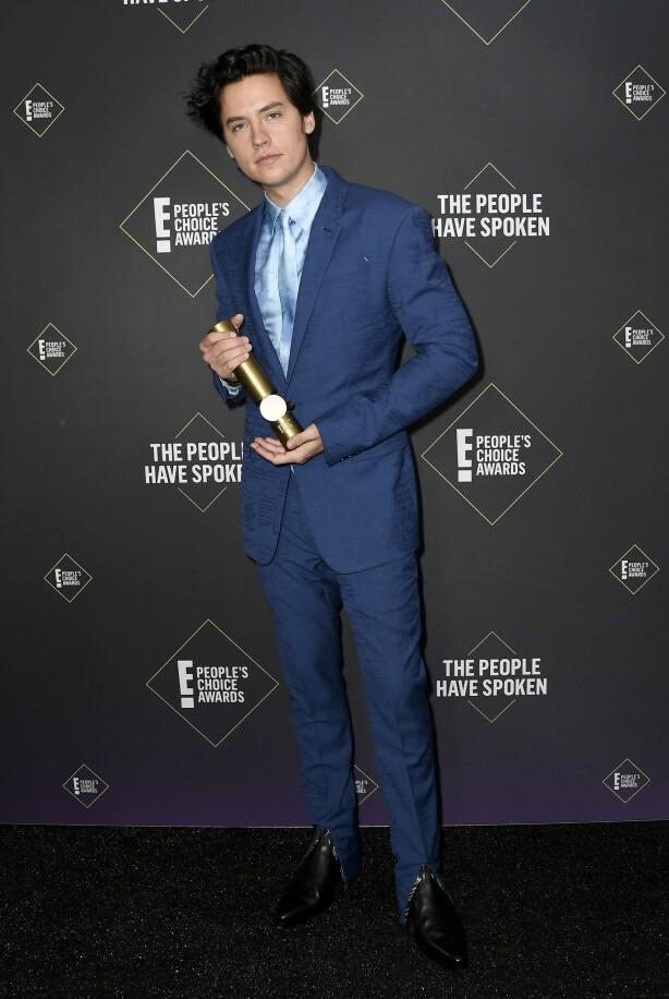 <strong>VANT PRIS:</strong> Cole Sprouse ble kåret til årets mannlige tv-stjerne. Foto: NTB Scanpix