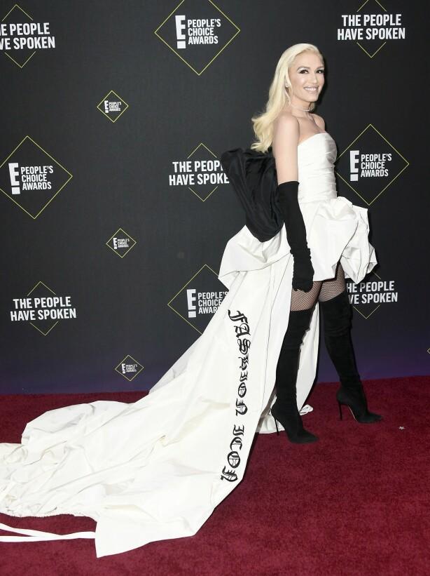 <strong>PEOPLE'S CHOICE AWARDS:</strong> Gwen Stefani på den røde løperen. Foto: NTB Scanpix