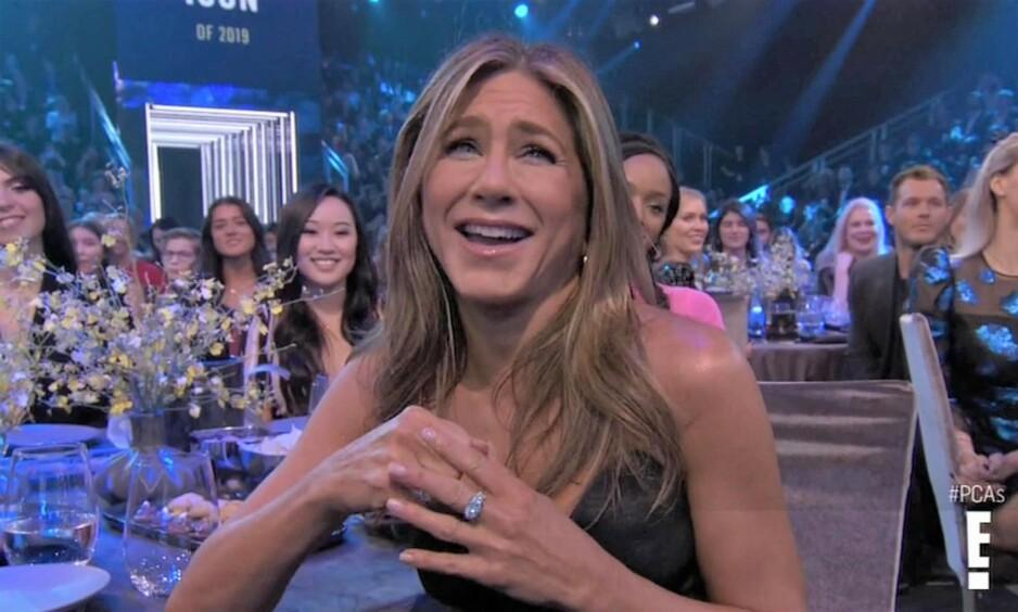 <strong>VANT PRIS:</strong> Jennifer Aniston stakk av med prisen som årets ikon under People's Choice Awards. Foto: NTB Scanpix