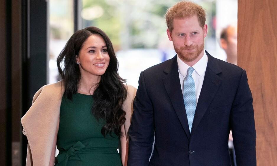 IKKE-KONGELIG JUL: Prins Harry og hertuginne Meghan skal angivelig feire jul i statene med Meghans mor. Foto: NTB Scanpix
