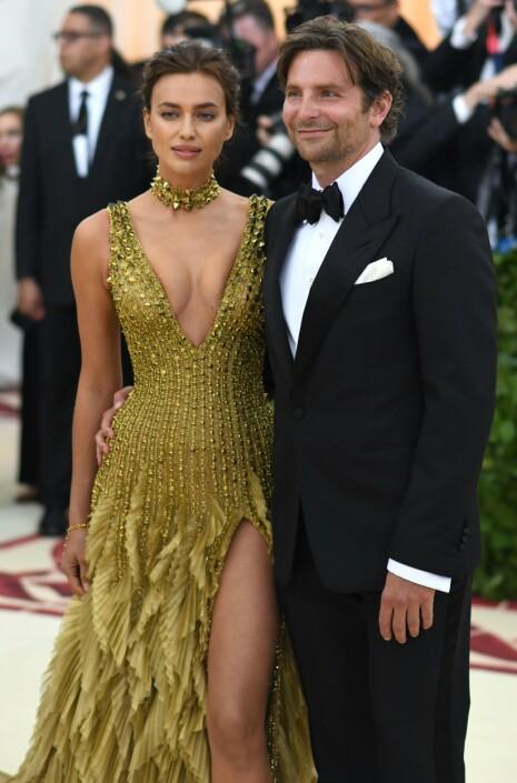 STJERNEPAR: Irina Shayk og Bradley Cooper var lenge et av Hollywoods heteste par, før nyheten om at de gikk fra hverandre slo ned som en bombe i pressen. Foto: NTB Scanpix