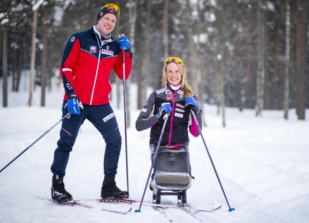 VIKTIG STØTTE: Birgit legger ikke skjul på at forloveden betyr mye for henne og at han er en viktig støttespiller. Foto: NTB Scanpix