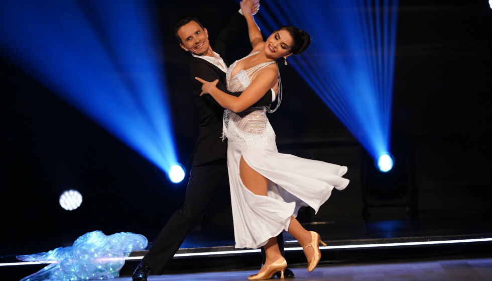 STEPPET INN: Bahareh Letnes fikk tildelt dansepartneren Tom-Arild Hansen da Brunberg trakk seg før start. Foto: TV 2