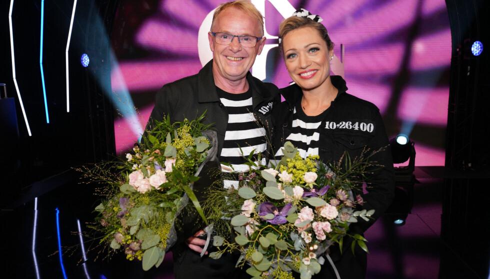 RØK FØRST: Ewa Trela og Per Sandberg ble første dansepar ut av konkurransen i år. Foto: TV 2