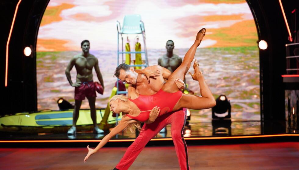 TILBAKE: Aleksander og Nadya skal blant annet framføre «Baywatch»-dansen som de har vist tidligere. Foto: Espen Solli / TV 2