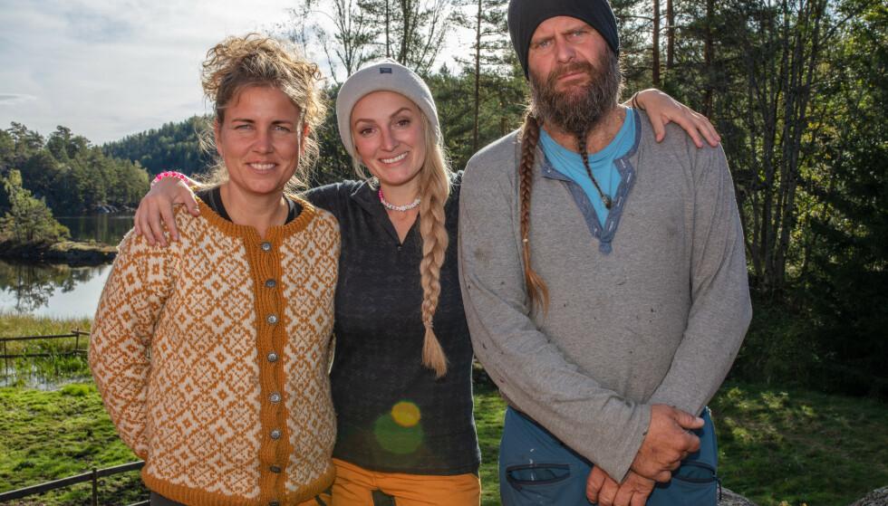 «TORPET»-FINALISTENE: Eunike Hoksrød, Ingebjørg Monique Haram og Frank Tore Aniksdal sto igjen til sist i «Torpet». Foto: TV 2