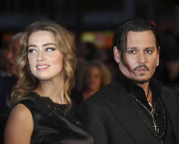 TURBULENT FORHOLD: Johnny Depp og Amber Heard skapte store overskrifter etter at de besluttet å gå hver til sitt i 2016. Foto: NTB Scanpix