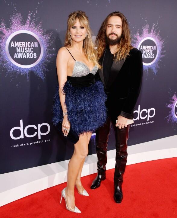 <strong>EKTEPAR:</strong> Heidi Klum med ektemannen Tom Kaulitz på American Music Awards. Foto: NTB scanpix