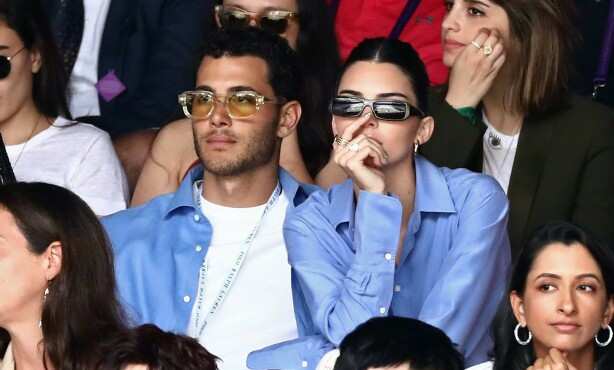 GODE VENNER: Kendall Jenner har de siste månedene blitt koblet til Fai Khadra, men ifølge henne selv er de to bare venner. Her avbildet i juli. Foto: NTB Scanpix