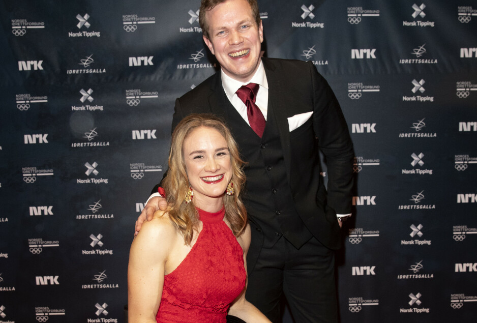 <strong>BRUDD:</strong> Birgit Skarstein (30) og Martin Sletten (31) er ikke lenger et par. Her er de to sammen på Idrettsgallaen i januar i år. Foto: Andreas Fadum/ Se og Hør