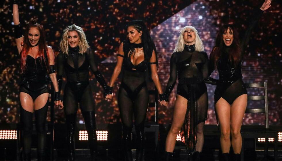 TAKKET: The Pussycat Dolls takket etter sin første opptreden på ti år. Foto: NTB Scanpix