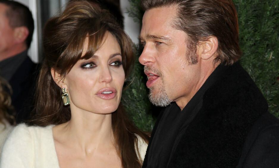 <strong>VANSKELIG TID:</strong> Brad Pitt og Angelina Jolie gikk fra hverandre i 2016. Nå forteller Pitt i et nytt intervju at han slet stort med alkoholproblemer etter bruddet. Foto: REX/ NTB Scanpix