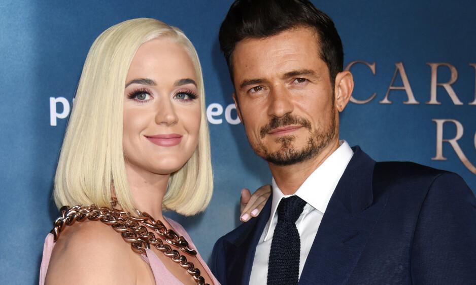 SKAL GIFTE SEG: Katy Perry og Orlando Bloom skal være i full sving med bryllupsplanlegging. Foto: NTB Scanpix