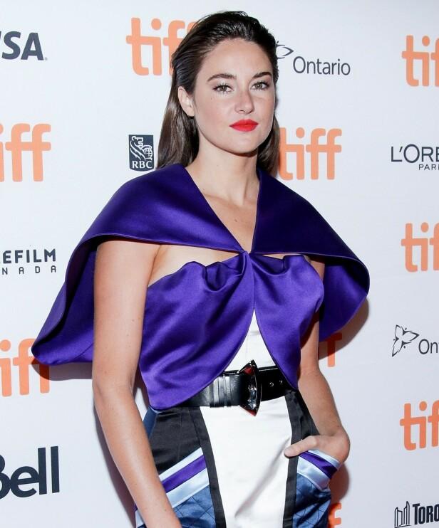 ANBEFALER: Skuespiller Shailene Woodley er også en av dem som har testet ut soltrenden. Foto: NTB Scanpix