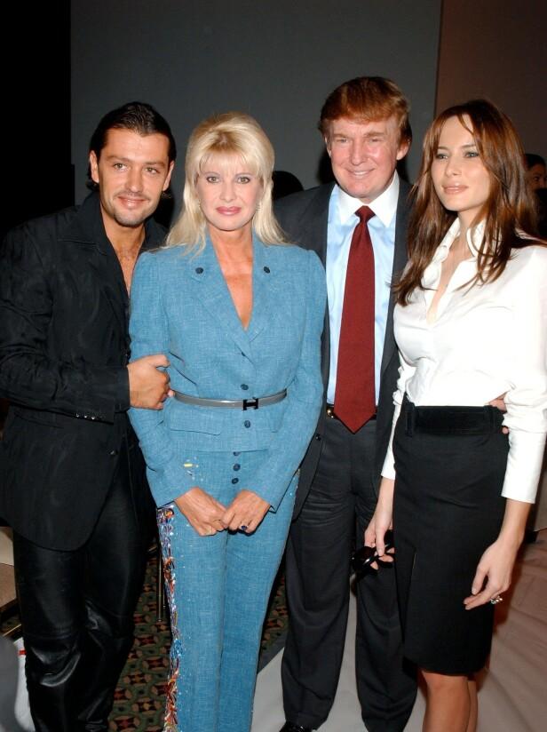 GJENGEN: Her er Ivana og kjæresten sammen med Donald og Melania Trump i 2003. Foto: NTB Scanpix