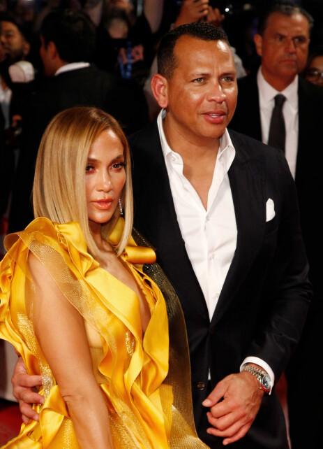 FORLOVET: Jennifer Lopez og Alex Rodriguez. Foto: NTB Scanpix