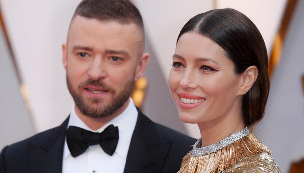 NESTEN-SKANDALE: Justin Timberlake ble nylig avbildet hånd i hånd med en skuspillerkollega, bilder som førte til at han valgte å gå offentlig ut med en unnskyldning til kona, Jessica Biel. Foto: NTB Scanpix