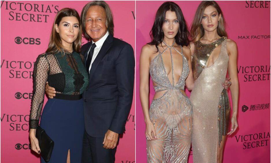 <strong>BRØT FORLOVELSEN:</strong> Shiva Safai (t.v.) var i flere år forlovet med Mohamed Hadid, faren til supermodellene Bella og Gigi Hadid (t.h.). Nå er forholdet over. Foto: NTB scanpix