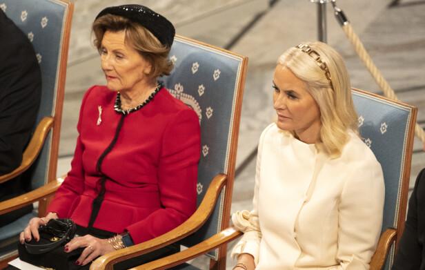 STRÅLTE: Kronprinsessen hadde på seg kjole fra Valentino og diadem fra Prada. Foto: Andreas Fadum / Se og Hør