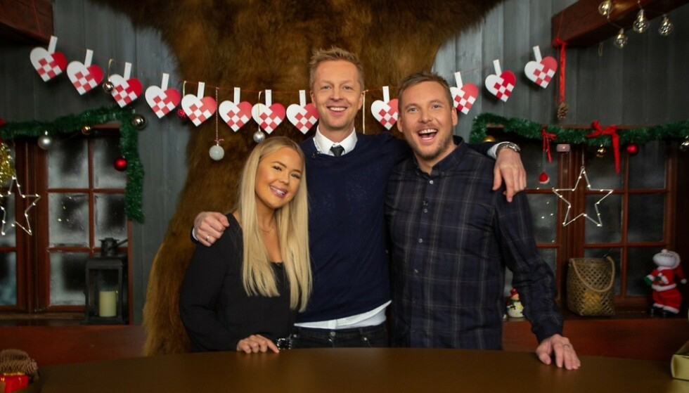 MED PÅ ALT: Rikke, Fridtjof og Niklas er med i julekalenderen fra første til siste luke. Foto: TVNorge