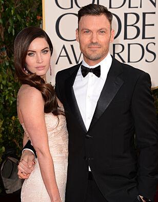 PRISUTDELING: Megan og Brian under Golden Globe i 2013. Foto: NTB Scanpix
