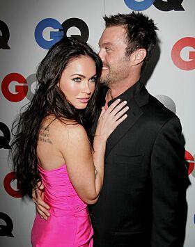 DEN GANG DA: I forbindelse med GQs Man of the Year-fest i 2008 var Megan og Brian på den røde løperen sammen. Foto: NTB Scanpix