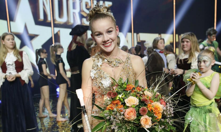 VANT: 18 år gamle Amalie Skeide Sandvik stakk av med seieren i «Norske talenter». Foto: TV 2