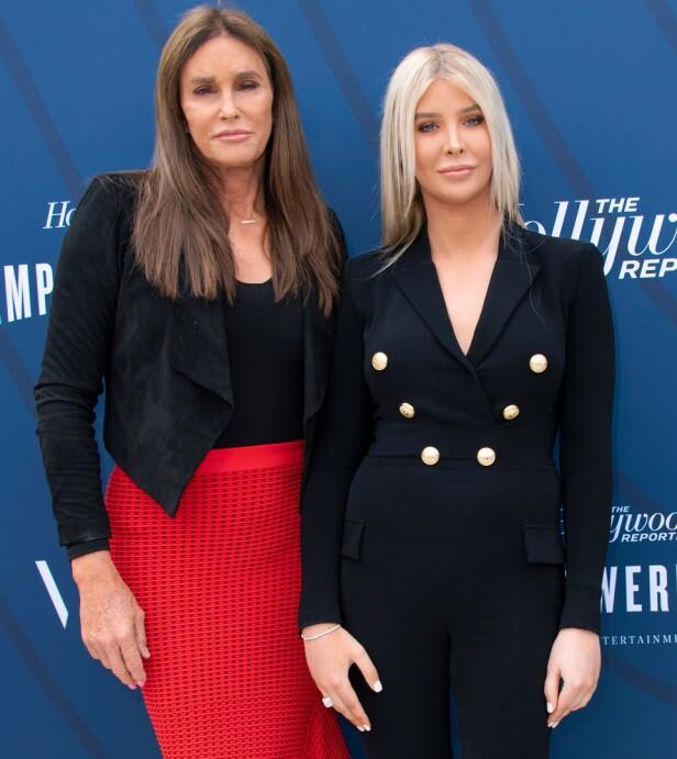 INGEN ROMANTIKK: Sophia Hutchins avkrefter at hun og Caitlyn Jenner har noen romantisk relasjon. Her avbildet tidligere i år. Foto: NTB Scanpix