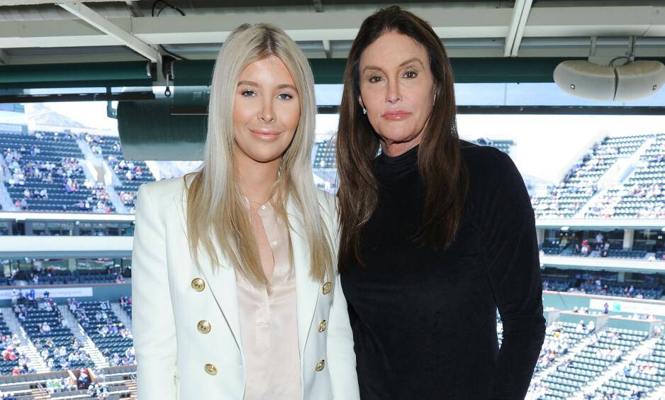 NULL ROMANTIKK: De to siste årene har det blitt skrevet opp og ned om forholdet til Caitlyn Jenner og den 46 år yngre modellen Sophia Hutchins. Nå avkrefter imidlertid sistenevnte at det noensinne har vært noen romantikk mellom dem. Foto: NTB Scanpix