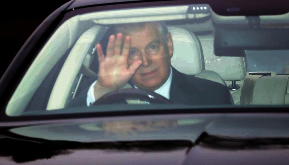 ETTER SKANDALEN: Prins Andrew gjestet dronningens julefest etter Epstein-skandalen tidligere i vinter. Foto: NTB Scanpix