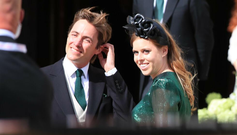 FORLOVET: Prinsesse Beatrice (31) forlovet seg med eiendomsutvikleren Edorado Mapelli Mozzi (36) i høst. Denne uken feiret de med nære venner og familie. Foto: NTB Scanpix