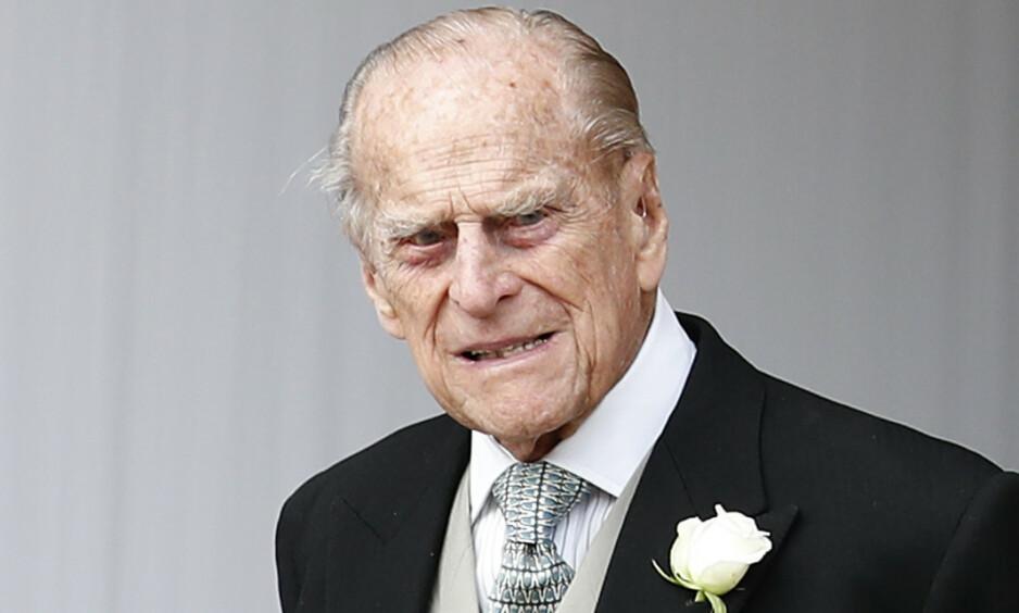 <strong>INNLAGT:</strong> Prins Philip har de siste årene slitt med helsen. Nå kan han tilbringe julen på sykehus. Foto: NTB Scanpix