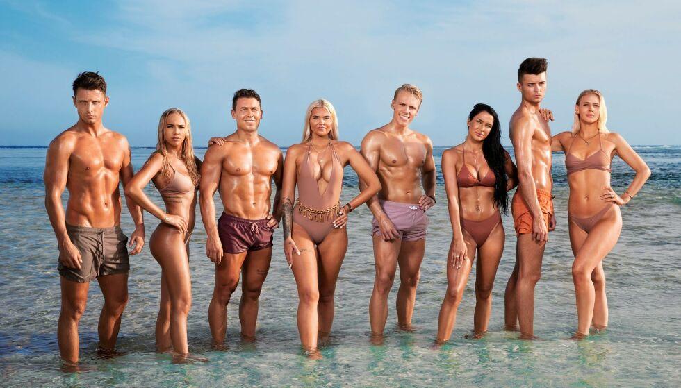 WHAT!: «Ex on the beach» er virkelig noe for seg selv. Her med casten til andre sesong. Foto: Discovery