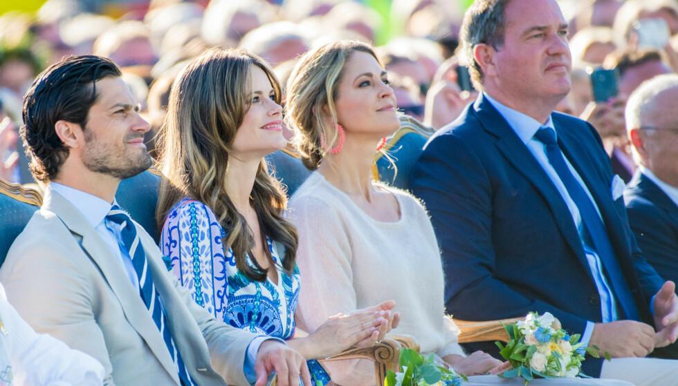 UT AV FAMILIEN: Det var mange som fikk seg et sjokk da det i oktober ble kjent at prinsesse Madeleine og prins Carl Philips barn ikke lenger skal regnes som kongelige. Foto: NTB Scanpix