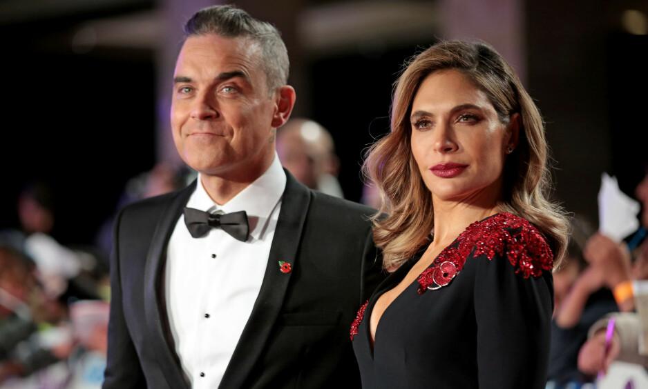 LYKKELIG GIFT: Robbie Williams la om livsstilen etter at han møtte Ayda Field. Foto: NTB scanpix