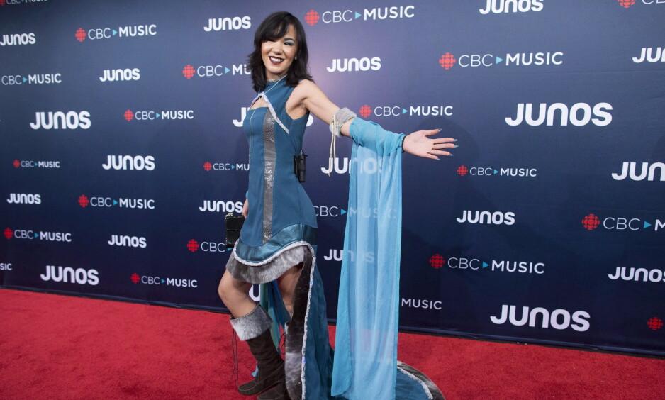GIKK BORT: Artist Kelly Fraser er død, 26 år gammel. Her under Juno Awards i Vancouver i fjor. Foto: NTB Scanpix