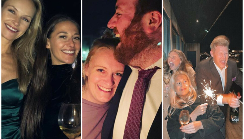 FULL FEST: Synnøve Skarbø, Ronny Brede Aase og Vegard Harm har alle benyttet anledningen til å ønske følgerne sine et godt nytt år. Foto: Skjerdump/Instagram