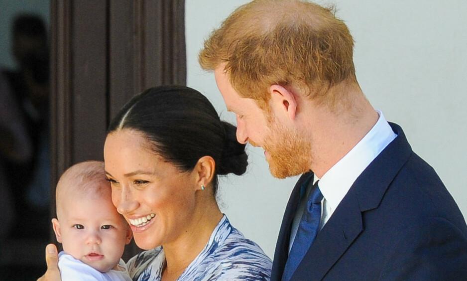 DELTE NYTT BILDE: Prins Harry og hertuginne Meghan markerte inngangen til det nye tiåret med å sende en hilsen til alle sine følgere. Foto: NTB Scanpix