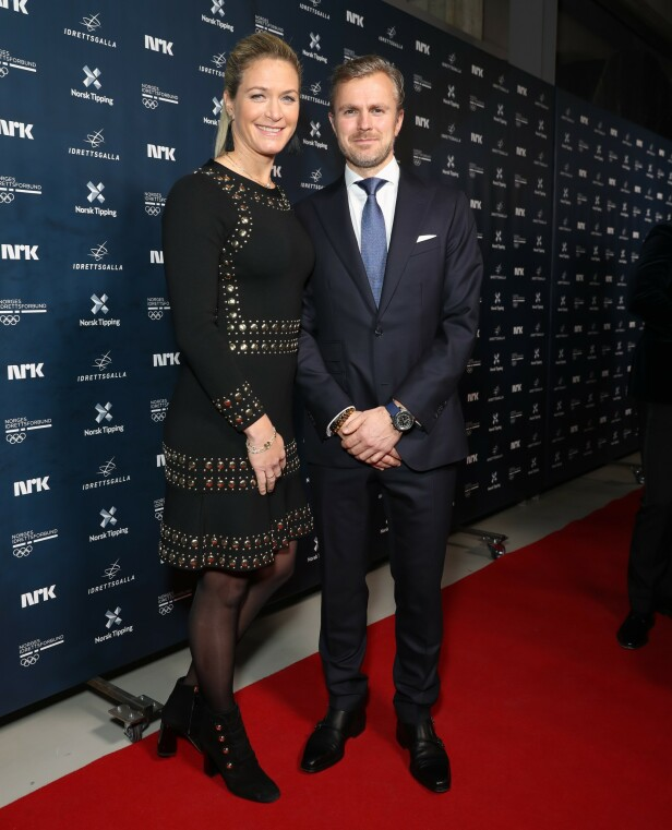 MED MANNEN: Suzann Pettersen sammen med ektemannen Christian Fredrik Ringvold. Foto: Andreas Fadum